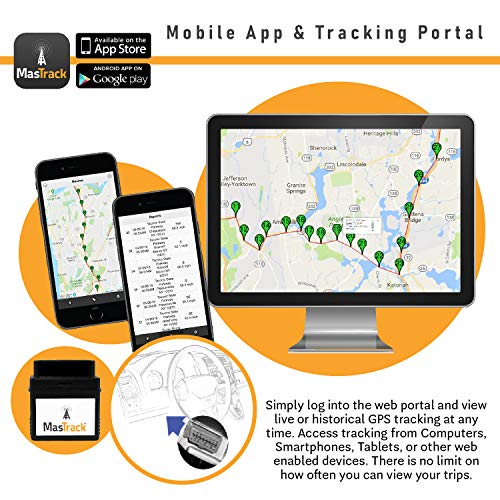 MasTrack MT-OBD Live GPS Vehicle Tracker with Engine Diagnostics