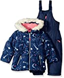 Carter's Little Girls' 2-Piece Heavyweight Printed Snowsuit, Navy Star, 5/6