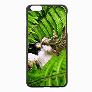 iPhone 6 Plus Black Hardshell Case 5.5inch - grass plants leaves Desin Images Protector Back Cover