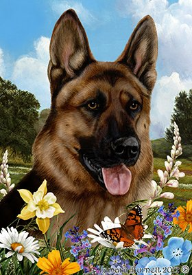 German Shepherd Garden Flag - 4