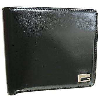 1be4d45ed5d8 Amazon.co.jp: GUCCI(グッチ) Gロゴ 二つ折り財布 レザー ブラック 黒 ...