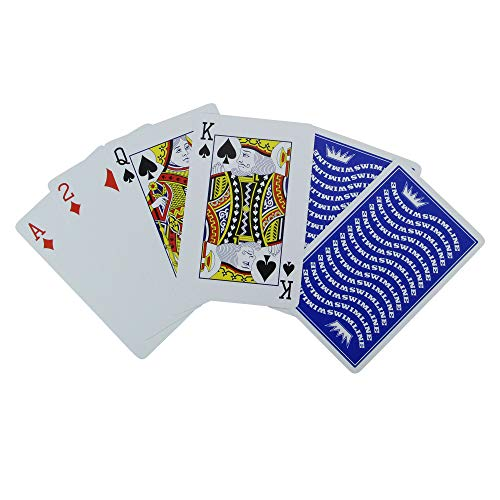Water Sports Waterproof Swimming Pool Blue Deck of Playing Cards Game ()