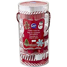 Wilton 12 Pc Full Size Metal Cookie Cutter Set Christmas Gift Set Bucket