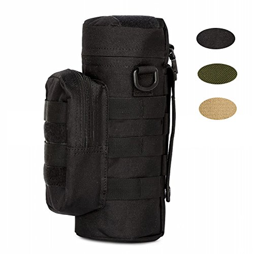 Tactical Molle Water Bottle Pouch, Hoanan H2O Hydration Carrier Outdoor Military Kettle Bag Pack Unisex Waist Pack