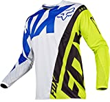 Fox Racing 360 Creo Men's Off-Road Motorcycle Jerseys - White/Yellow / X-Large