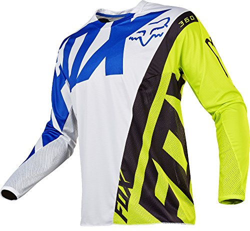 Fox Racing 360 Creo Men's Off-Road Motorcycle Jerseys - White/Yellow / X-Large by Fox Racing