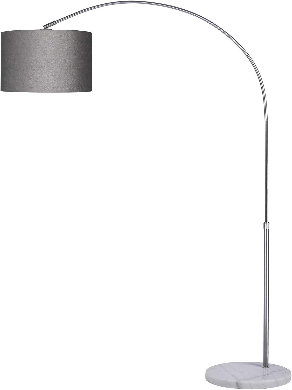 Monzana Bogenlampe 133 180cm Hohe O25cm Stoffschirm Bogenleuchte