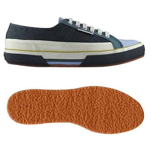 Superga - Chaussures 2853-COTU pour homme et femme - A06 - Blue-Azure-White - 42: EU 42 UK 8 (27,3 cm)