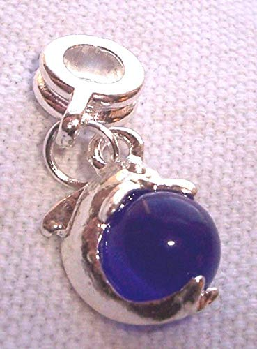 Pendant Jewelry Making Blue Cat's Eye Ball Dolphin Beach Sea Life Dangle Bead for Euro Charm Bracelet