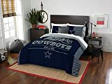 Northwest Enterprises Dallas Cowboys COMBO 5 Pc FULL/QUEEN Size Comforter Set Includes: Comforter, 2 Pillow Shams & 2 Pillowcases -NFL Football Bedding Accessories