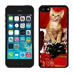 2014 Latest Iphone 5C TPU Case Christmas Cat Black iPhone 5C Case 1