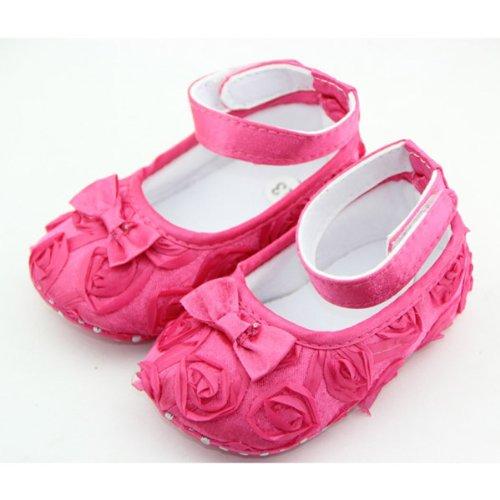 ChineOn schöne neugeborenes Kinder Kleinkind Mädchen Baby Rosa Stil weich Warm Prinzessin Blumenschuhe Cack (Rosa: 11cm)