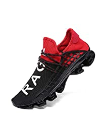 XIDISO Men Running Shoes Sneakers for Mens Fashion Casual Walking Shoes Outdoor Running Blade Sneakers