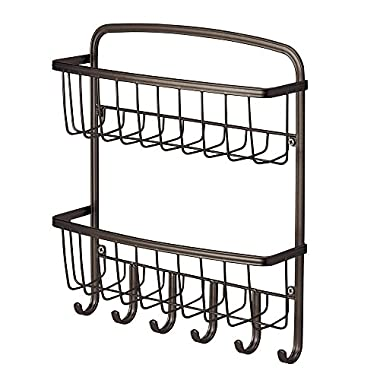 York Lyra Wall Mount 2 Tier Mail & Key Rack