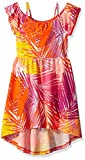 Image of The Children's Place Big Girls' Cold Shoulder Casual Dresses, Tangelo 1299, L (10/12)