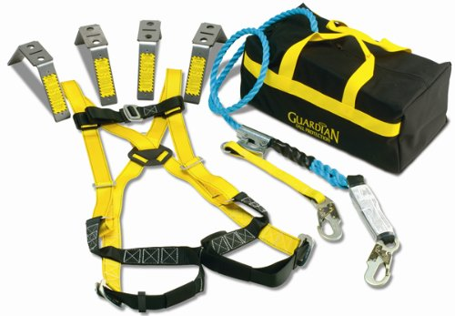 Guardian Fall Protection 193061 Construction Premium Edge Harness with Pass-Thru Chest Buckle, Waist Tounge Buckle and Leg Tounge Buckles, M-XLarge by Guardian Fall Protection B004BR2GLE
