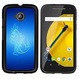 "Be-Star Único Patrón Plástico Duro Fundas Cover Cubre Hard Case Cover Para Motorola Moto E2 / E(2nd gen)( Resplandeciente Dragón"" )"
