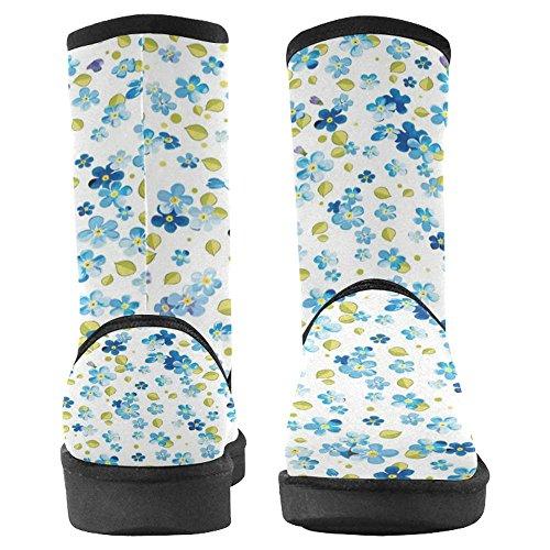 Snow Stivali Da Donna Di Interestprint Stivali Invernali Comfort Dal Design Unico Elegante Modello Floreale Multi 1