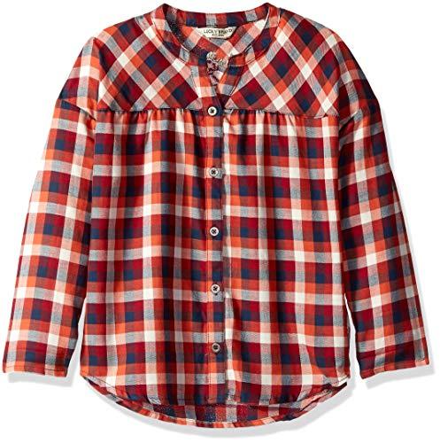 Lucky Brand Little Girls Long Sleeve Fashion Top, Graciela Chili, 6X