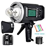 Godox AD600BM Bowens Mount 600Ws GN87 High Speed Sync Outdoor Flash Strobe Light Monolight with X1T-S Wireless Trigger Transmitter For Sony Camera & 80cmX80cm /32''X32''Softbox (Bowens Mount Speedring)
