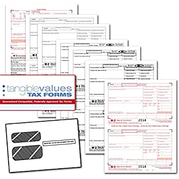 Amazon Com 2018 Laser Tax Forms W 2 Income 4 Part Set Self