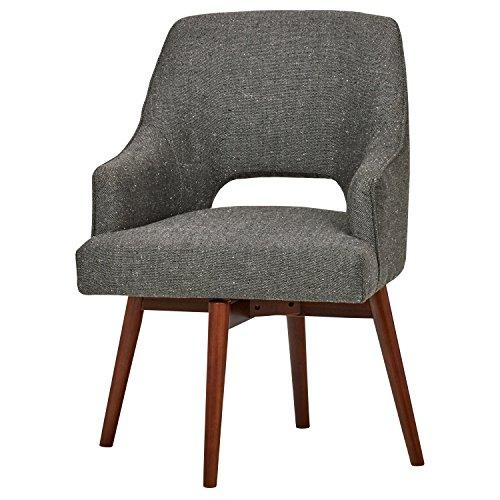Rivet Mid-Century Open Back Swivel Chair, 24