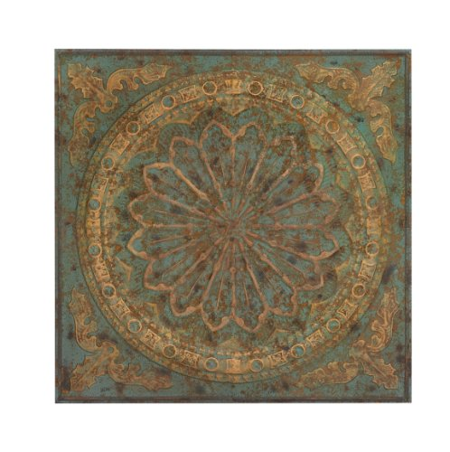 "Deco 79 53855 Art Iron Roman Empire Wall Plaque, 36"" H x 36"" L, Verdigris-Inspired Paint"