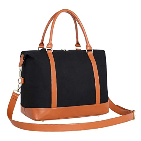 2aa0bf3ca8 Travel Duffle Bag Women Weekender Travel Tote Holdall Bag Canvas Weekend  Overnight Carry On Handbag Gym