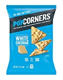 PopCorners White Cheddar Snack Pack | Gluten Free Snack | (40 Pack, 1 oz Snack Bags)