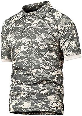 YFNT Camisa Militares De Polo De La Solapa De Los Hombres Camuflaje Camiseta De Manga Corta Camo T Shirt (AC, S): Amazon.es: Deportes y aire libre
