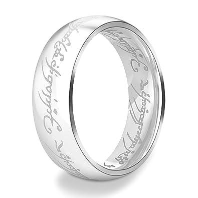 Lord Of The Rings Wedding Band.Anyasun Titanuim Steel Rings Printed With Lord Of Rings Wedding Band Rings For Women Men