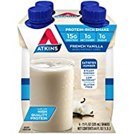 Atkins Ready to Drink Protein-Rich Shake, French Vanilla, 4 Count