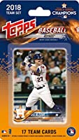 2018 Topps Baseball Factory Houston Astros Team Set of 17 Cards which includes: Jose Altuve(#HA-1), Jake Marisnick(#HA-2), Josh Reddick(#HA-3), Carlos Correa(#HA-4), Brad Peacock(#HA-5), Charlie Morton(#HA-6), Alex Bregman(#HA-7), Yulieski Gurriel(#HA-8),