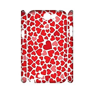 ALICASE Hard case Love Pink 3D Diy For Samsung Galaxy Note 2 N7100 [Pattern-1]