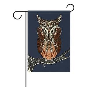 Everui - Bandera de jardín con diseño de águila fría decorativa para patio y decoración de boda, jardín, 30,5 x 45,7 cm, 100% poliéster, impreso en ambos lados