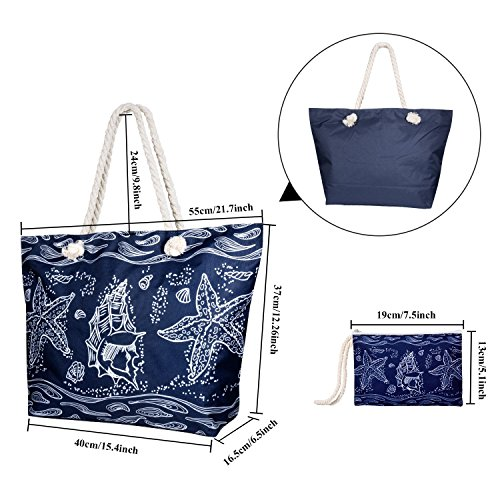 Canvas Travel with for Girls Women Shoulder Bag Bag Ladies Small Handbag Tote Starfish Holiday Bag Bags Summer Shopping Large Women Beach MOOKLIN zF6q88