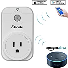 Smart Plug Working with Alexa, WiFi Timer Plug Wireless Switch Power Outlet Timer Socket Turn On/Off by iPhone iOS Android Smart Phone APP Remote Control for Household Appliances Devices