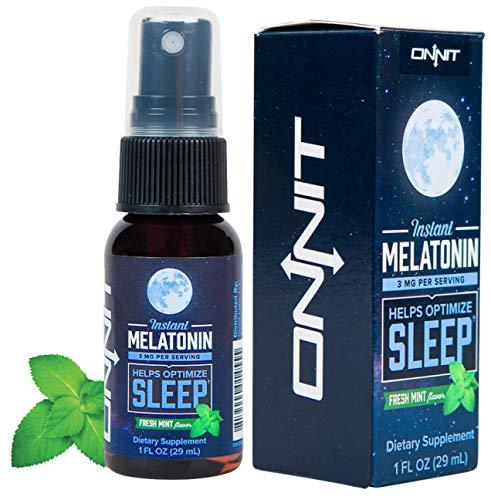 Onnit Melatonin Spray, Mint Liquid, 1 Ounce