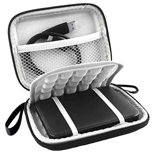 Lacdo EVA Shockproof Carrying Case for Western Digital My Passport Studio Ultra (Digital Hard Drive Flash)