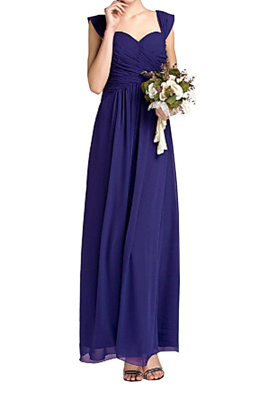 Gorgeous Bride Purple Long Simple Evening Party Dress Custom Chiffon