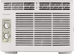 On hot, humid days, Frigidaire's 5, 000 BTU window-mounted air conditioner quickly cools a room up to 150 square feet. This mini-compact unit features mechanical rotary controls and top, full-width, 2-way air direction control. The washable f...