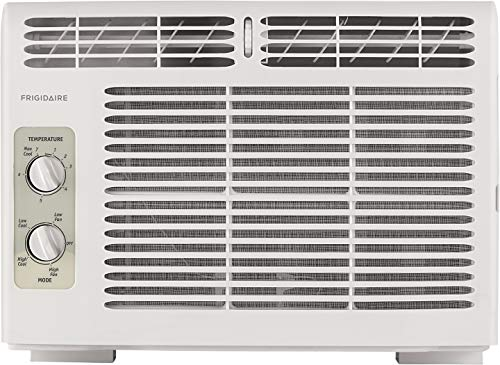 FRIGIDAIRE 5,000 BTU 115V Window-Mounted Mini-Compact Air Conditioner with Mechanical Controls, White (Air Conditioner Window Quiet)