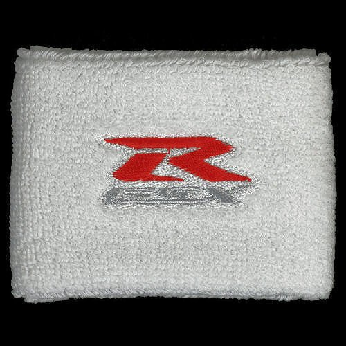 Suzuki GSXR White Brake Reservoir Cover by MotoSocks Fits GSXR, GSX-R, 600, 750, 1000, 1300, Hayabusa, Katana, TL 1000, SV 650
