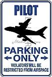 Novelty Parking Sign, Pilot Parking Only Aluminum Sign S8178