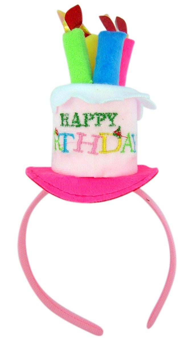 Happy Birthday Cake with Candles Headband Party Accessory