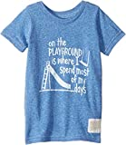 The Original Retro Brand Kids Baby Boy's On The Playground Vintage Tri-Blend Tee (Toddler) Streaky Royal 4T