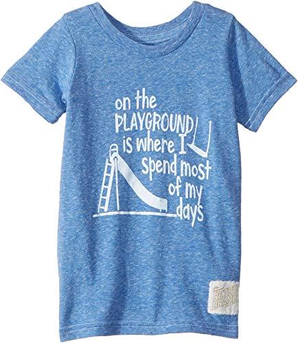 (The Original Retro Brand Kids Baby Boy's On The Playground Vintage Tri-Blend Tee (Toddler) Streaky Royal 3T)