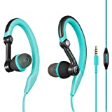 mucro Running Headphones Over Ear in Ear Sport Earbuds Earhook Wired Stereo Workout Ear Buds for Jogging Gym for iPhone…