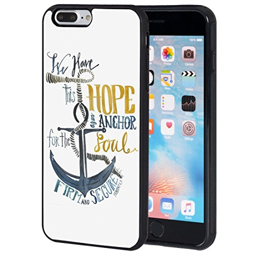 iPhone 7 Plus Case,AIRWEE Slim Anti-Scratch Shockproof Silicone TPU Back Protective Cover Case for iPhone 7 Plus 5.5 Inch,Christian Bible Verse Quote Hebrews 6:19 Hope Anchors The Soul