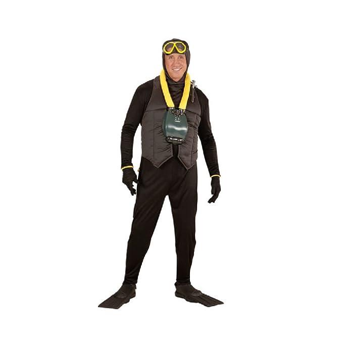 Fancy Dress Deep Sea Scuba Diver Black Suit Oxygen Tank Flippers Stag Do Ocean